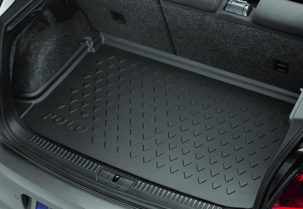 Коврик в багажник Volkswagen Polo 5, с надписью, для автомобилей с ...