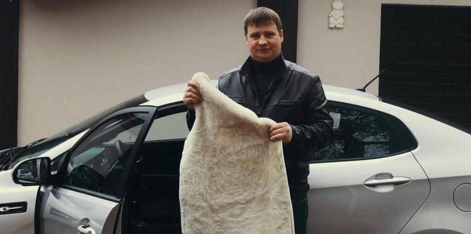 Меховые накидки на сидения автомобиля из овчины (мутона) - YouTube