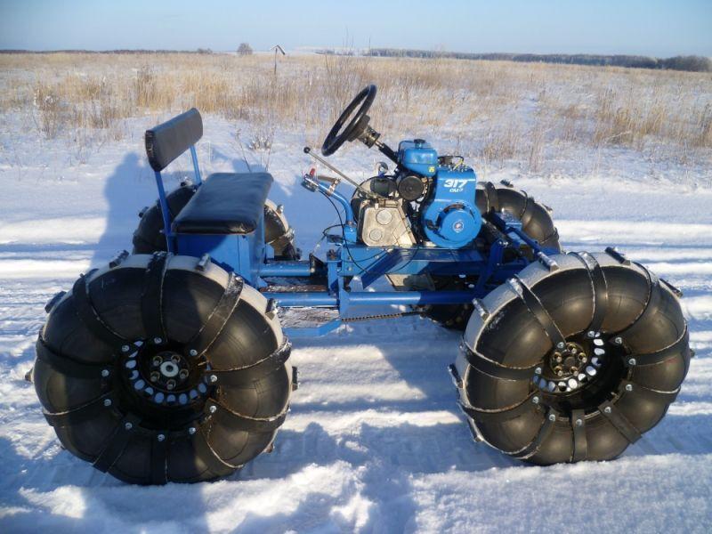 самодельные снегоходы из мотоблока