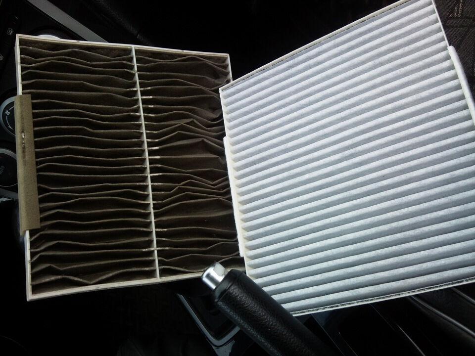 замена фильтра салона мазда 3