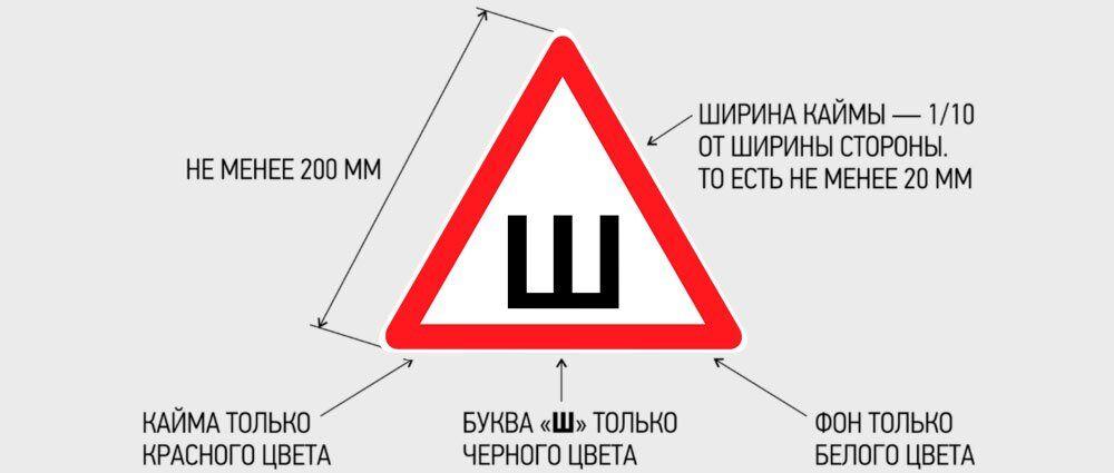 Знак Шипы обязателен к нанесению в 2018 году