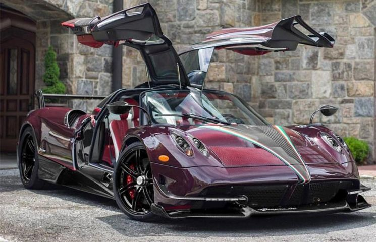 Red carbon-fiber Pagani Huayra BC dubbed the Kingtasma arrives in the US