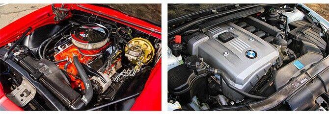 Старый и новый двигатели