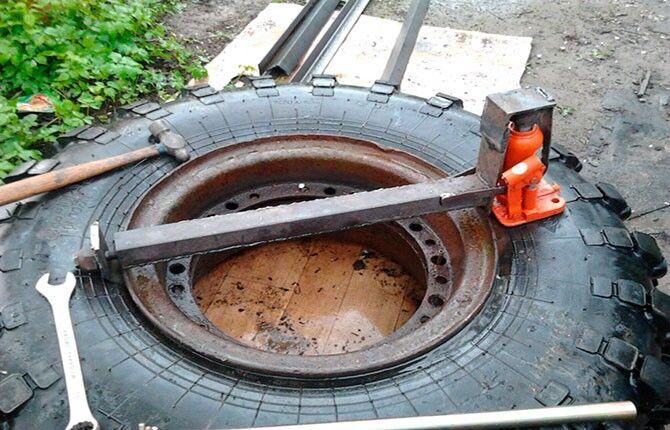 Приспособление для разбортировки колес