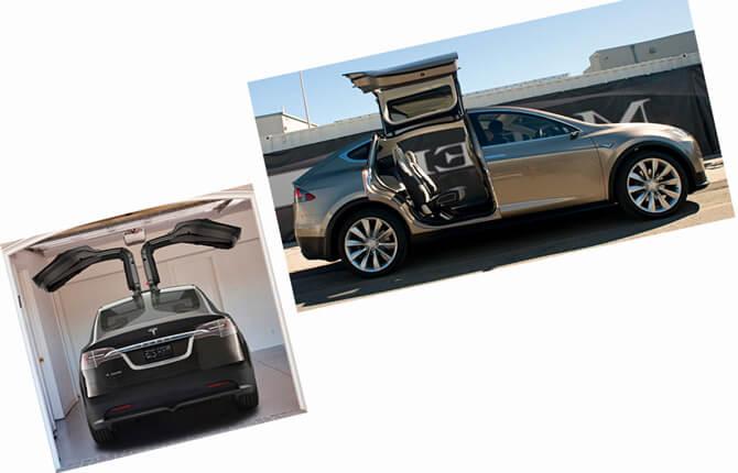 Tesla Model X внешний вид