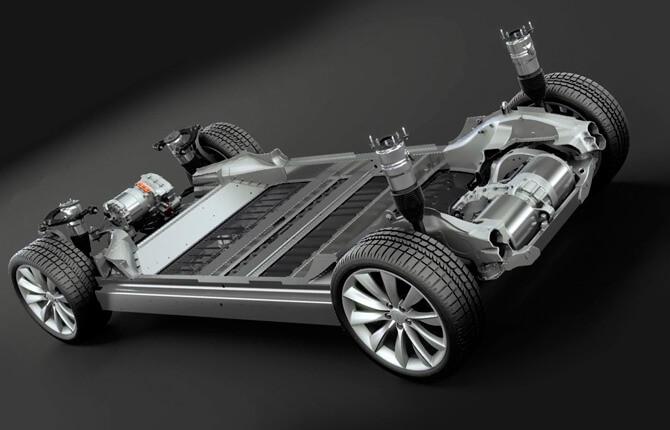 Tesla Model X силовой агрегат