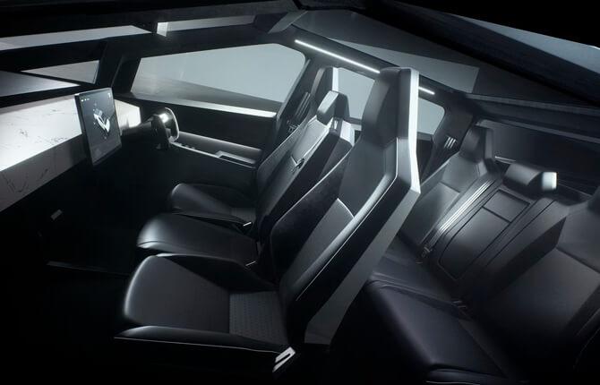 Интерьер Tesla Cybertruck